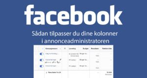 Sådan optimerer du kolonner Facebook business manager annonceadministrator